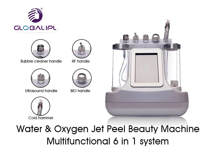 White Water Oxygen Jet Peel Machine For Eyes Pouch / Dark Circles Improvement