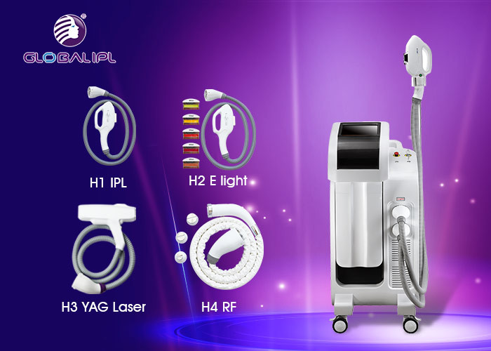 E Light / IPL RF ND YAG Laser Hair / Tattoo Removal Multifunctional Beauty Machiine 2500W Power