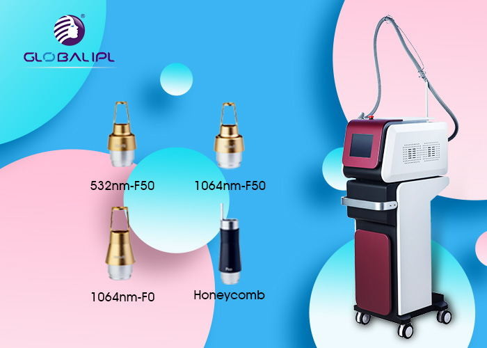 4 Heads Portable ND YAG Laser Machine 532 / 755 / 1064nm Tattoo Removal